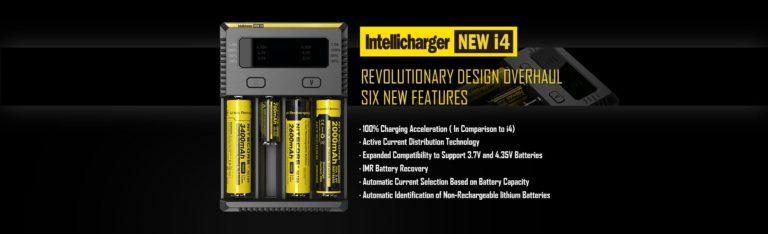 Nitecore New I4 Intellicharger Caricatore Batterie
