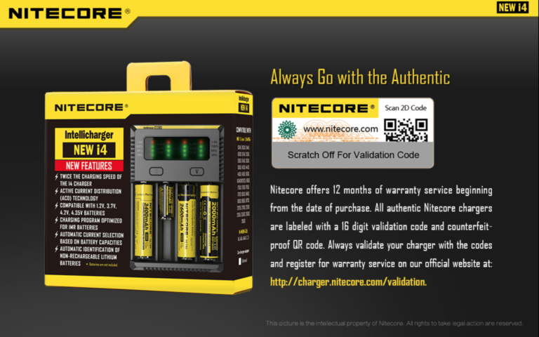 Nitecore New I4 Intellicharger V2 Caricatore Batterie