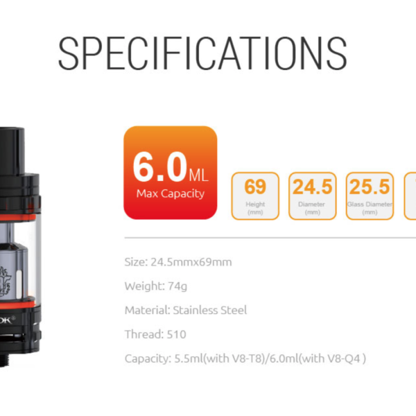 V8-Q4 SMOK TFV8 0.15 OHM BLISTER